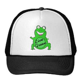 Froggie verde vivo gorras