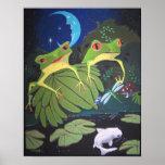 froggies and koi print