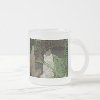 Froggies Courting Frosted Glass Coffee Mug