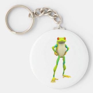 froggy2 basic round button keychain