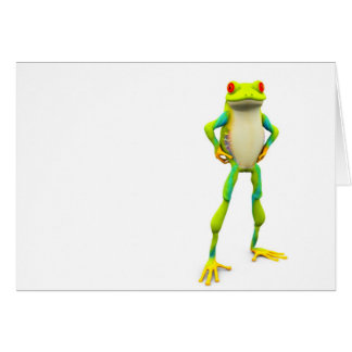 froggy2 greeting card
