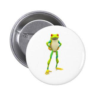 froggy2 pin redondo de 2 pulgadas