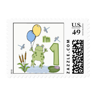 Froggy 1st Birthday Postage