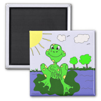 FROGGY 2 INCH SQUARE MAGNET