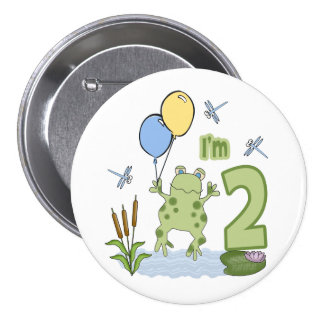 Froggy 2nd Birthday Button