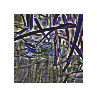 Froggy abstracto impresiones de lienzo