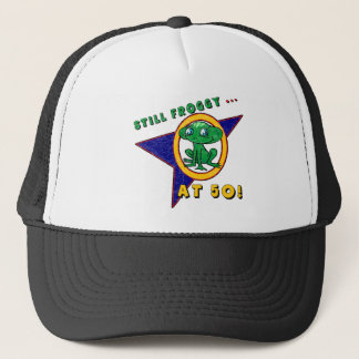 Froggy At Fifty 50th Birthday Gifts Trucker Hat