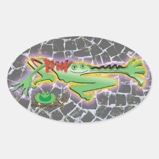 Froggy B Oval Sticker