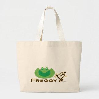 Froggy B. Tote Bag, Skateboard Art