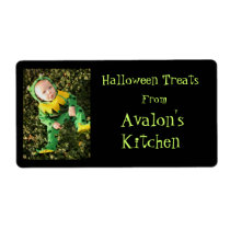Froggy Baby Halloween Treats Kitchen Baking Label Shipping Label