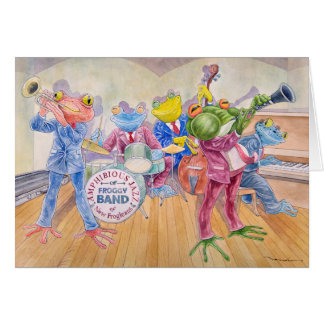 """""""Froggy Band"""" Greeting Card"""