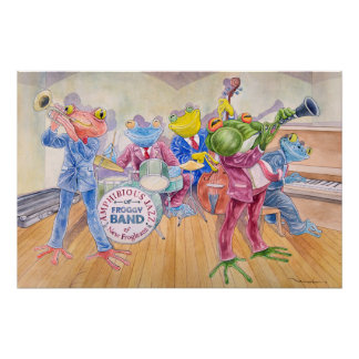 """Froggy Band"" Perfect Poster"