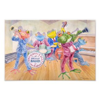 """""""Froggy Band"""" Photographic Print"""