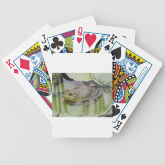 Froggy Bicycle Playing Cards