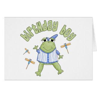 Froggy Birthday Boy Stationery Note Card