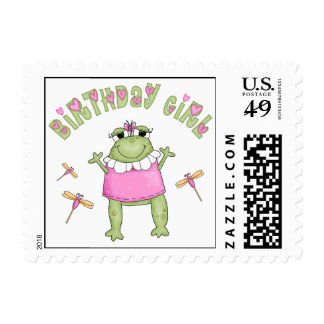 Froggy Birthday Girl Postage
