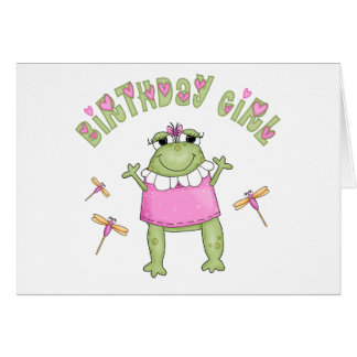 Froggy Birthday Girl Stationery Note Card