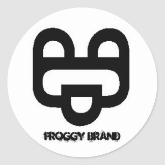 Froggy Brand Classic Round Sticker