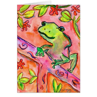 Froggy by Brett Walker, Age 14 Stationery Note Card