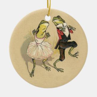 Froggy Cakewalk Christmas Ornaments