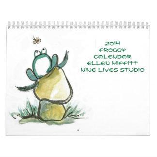 Froggy Calendar 2014 by Ellen Miffitt