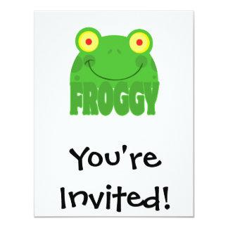 FROGGY CARTOON CARD