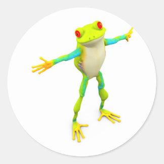 froggy classic round sticker