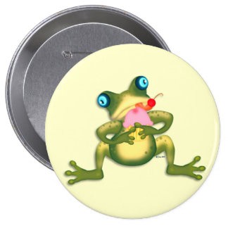 Froggy Cupcake Button