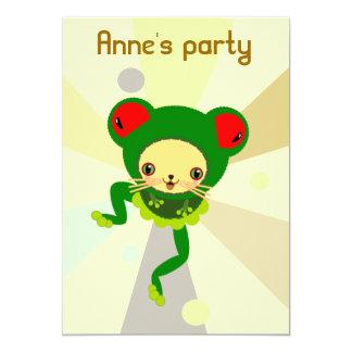 "froggy dance 5"" x 7"" invitation card"