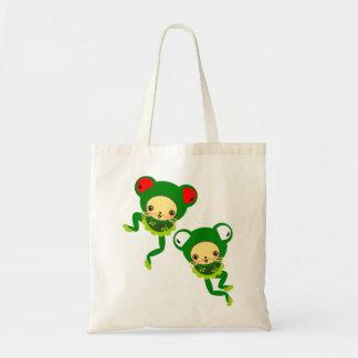 froggy dance tote bag