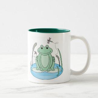 Froggy Daze Two-Tone Coffee Mug