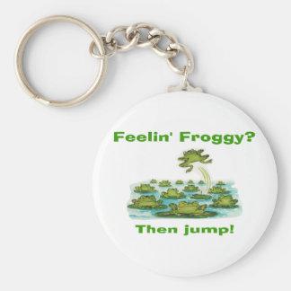 froggy del feelin llavero redondo tipo pin