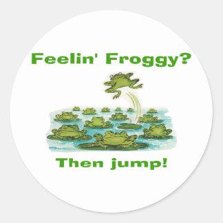 froggy del feelin pegatina redonda