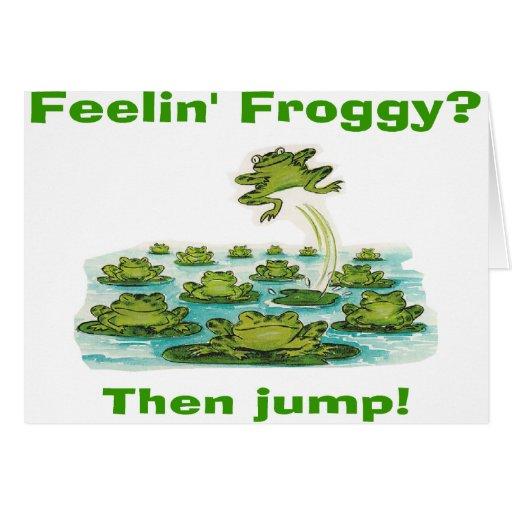 froggy del feelin tarjeta de felicitación