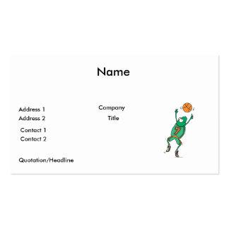 froggy divertido del baskeball tarjetas de visita