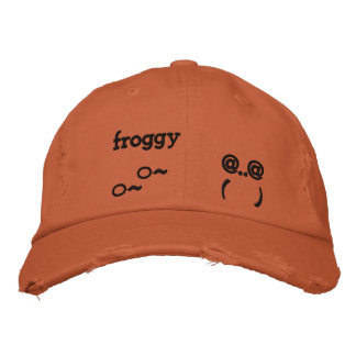 froggy embroidered baseball cap