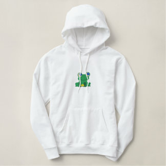 Froggy Embroidered Hoodie