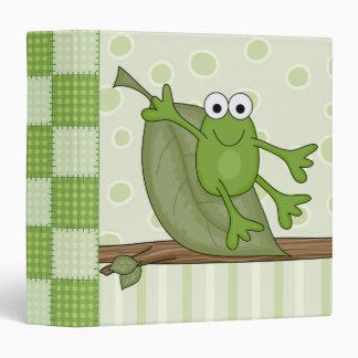 """froggy en la hoja carpeta 1 1/2"""""""