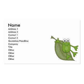 froggy en la hoja tarjetas de visita