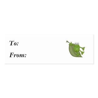 froggy en la hoja tarjetas de visita mini
