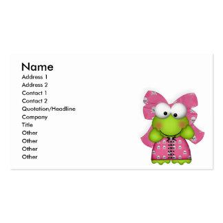 froggy femenino en skully vestido tarjetas de visita
