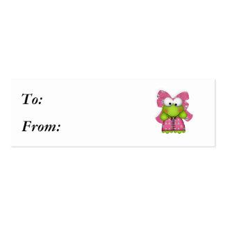 froggy femenino en skully vestido tarjetas de visita mini