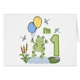 Froggy First Birthday Invitations Stationery Note Card