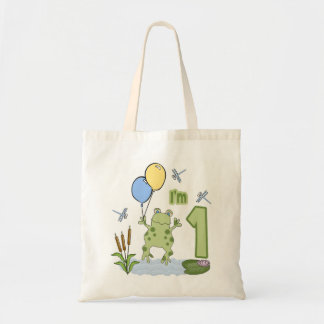 Froggy First Birthday Tote Bag