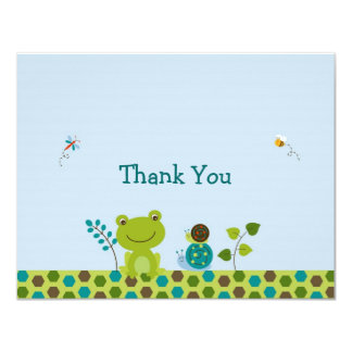 """Froggy Frog Snail Bee Thank You Note Cards 4.25"""" X 5.5"""" Invitation Card"""