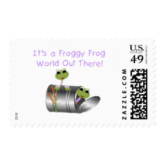 Froggy Frog World Tshirts and Gifts Stamps