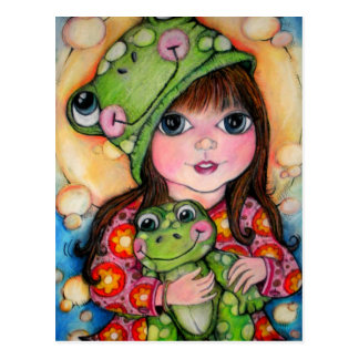 Froggy Fun - Ribbit - Frog Design Postcard