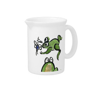 Froggy Gets a bit to eat Pitcher