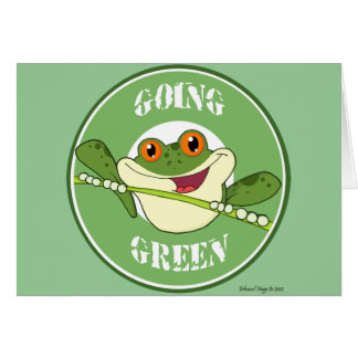 Froggy Going Green Card