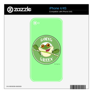 Froggy Going Green iPhone 4 Skin